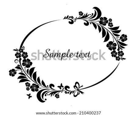 Flower frame isolated on White background. Element for design. Vector illustration  - stock vector