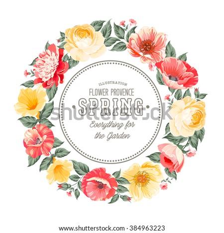 Flower garland. - stock vector