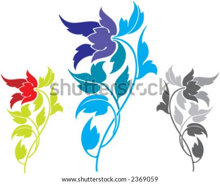 flower, icon, rose, thimbleweed - stock vector