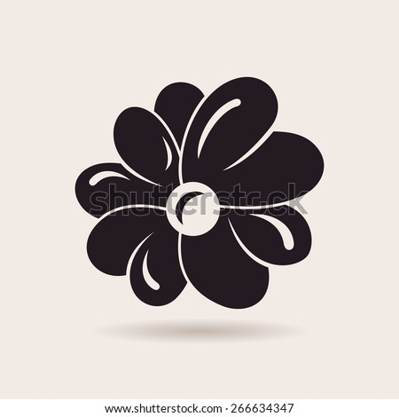 Flower logo. Vector sign emblem isolated - stock vector