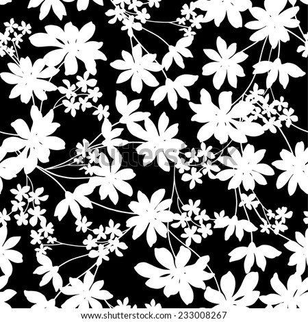 Flower pattern - stock vector