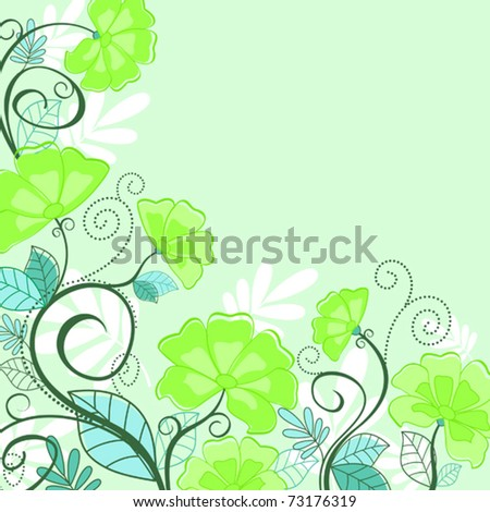 Flower pattern for design as a background. Jpeg version also available in gallery - stock vector