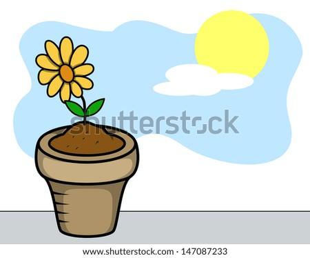 Flower Plant Vector - stock vector