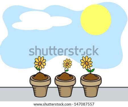 Flower Plants - stock vector