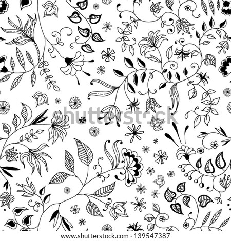 Flower seamless floral pattern thin nice and beautiful - stock vector
