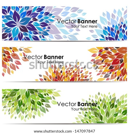 Flower vector background brochure template. Nature layouts - stock vector