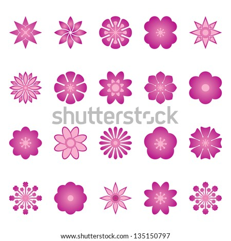 Flower Vector Color - stock vector