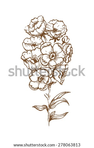 Flower with background - stock vector