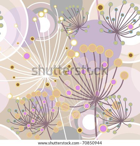 Flowers abstract seamless vector texture in gentle colors - stock vector