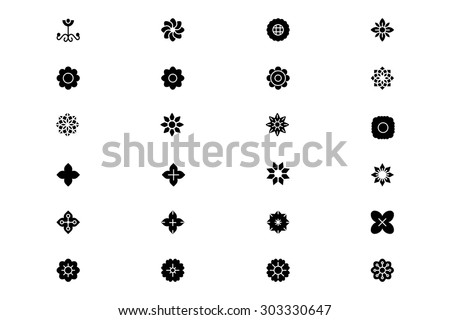 Flowers and Floral Vector Icons 2 - stock vector