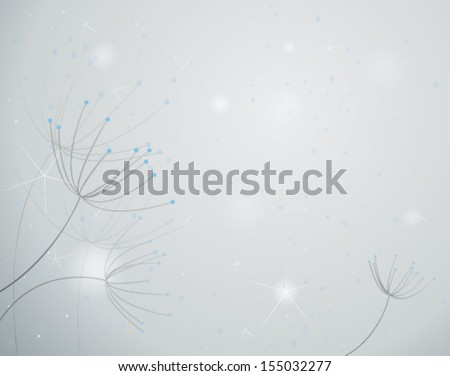 Flowers Anise / Gently floral background in blue - stock vector