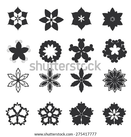 flowers icon - stock vector