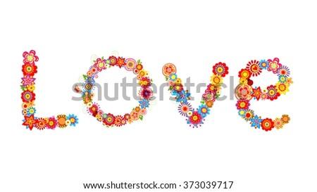 Flowers love - stock vector