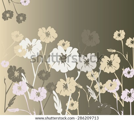 Flowers ornaments background texture in different colors. Vector - stock vector