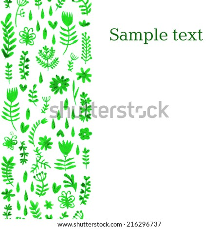 flowers watercolor background  vector - stock vector