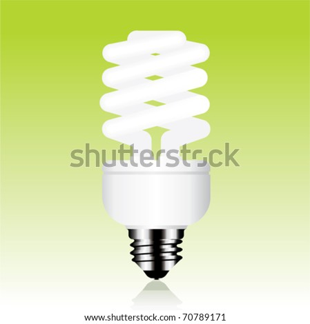 Fluorescent light bulb - stock vector