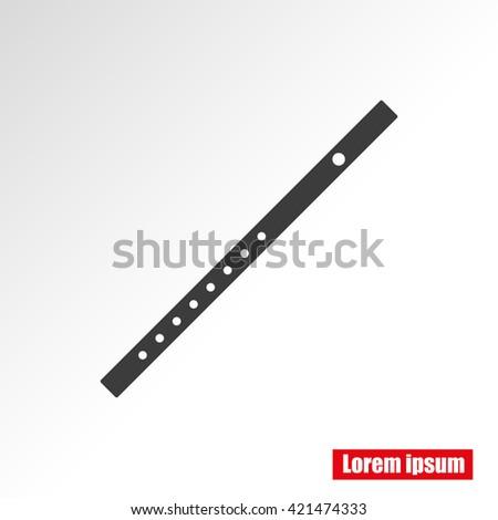 flute icon  - stock vector