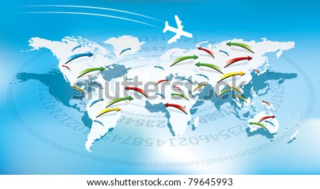 fly line - stock vector