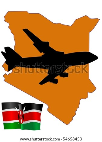 fly me to the Kenya - stock vector