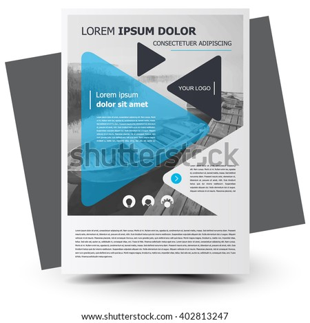 Flyer brochure design, flyer size A4 template, creative leaflet, trend cover - stock vector