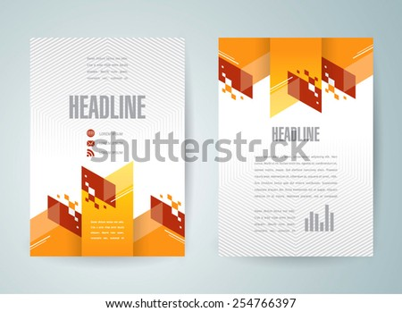 flyer brochure design template abstract - stock vector