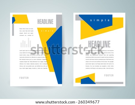 flyer brochure design template abstract geometric - stock vector