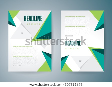 flyer brochure design template cover abstract triangles polygonal - stock vector