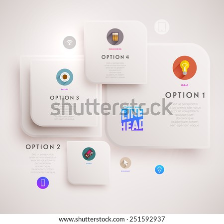 Flyer, Brochure Design Template. Geometric Abstract Modern Background. Mobile Technologies, Applications and Online Services Infographic Concept. - stock vector