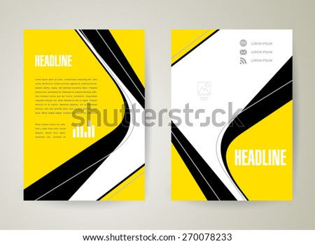 flyer brochure design template lines stripes - stock vector
