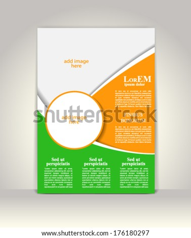 Flyer, brochure or magazine cover template - stock vector