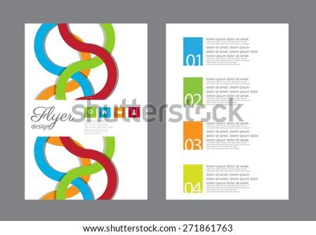 flyer,brochure template. vector - stock vector