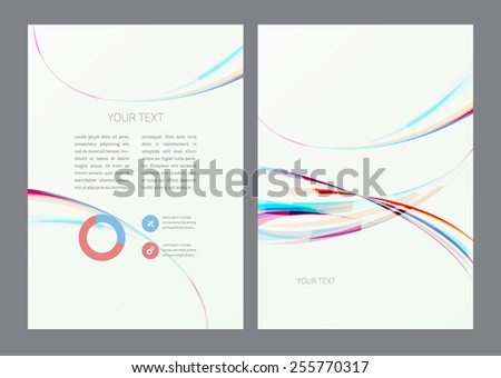 Flyer design template - stock vector