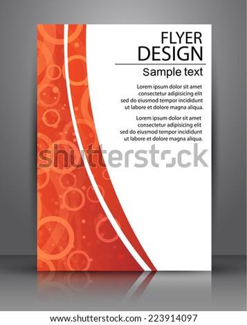 Flyer design - Vector business, poster Template - stock vector