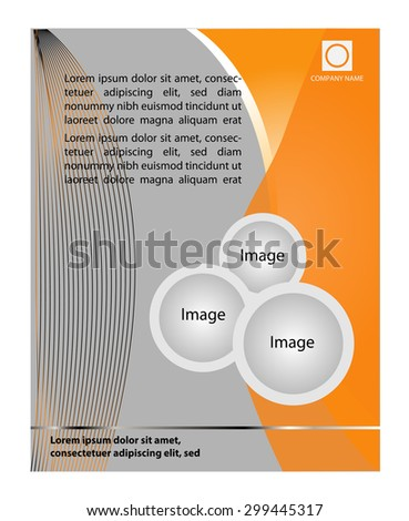 Flyer or Cover Design - Business Vector  - stock vector