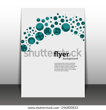 Flyer or Cover Design with Dots - stock vector