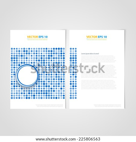 Flyer template back and front design. Brochure design templates collection with circles - stock vector