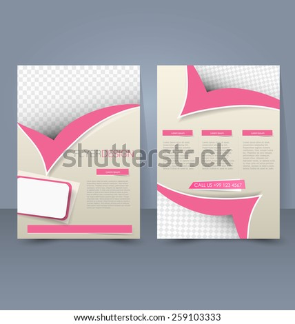 Flyer template. Business brochure. Editable A4 poster for design, education, presentation, website, magazine cover.  - stock vector