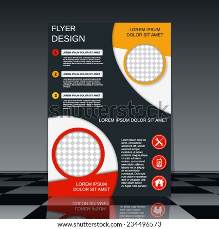 Flyer vector template. Booklet or brochure cover design. - stock vector