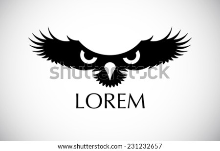 flying bird silhouette design - icon - stock vector