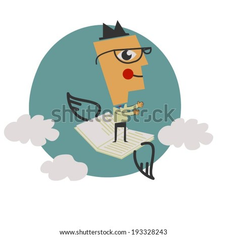Flying high - stock vector