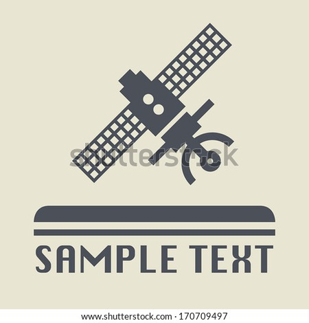 Flying satellite icon or sign, vector illustration - stock vector