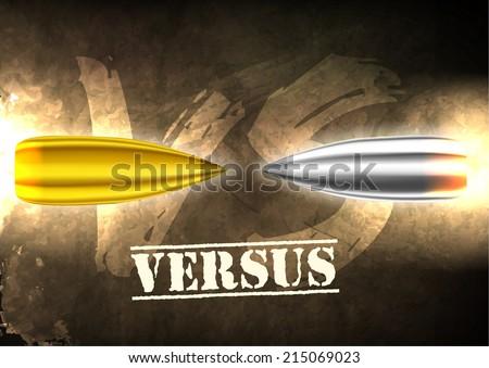 Flying versus bullets background concept. vector illustration design - stock vector