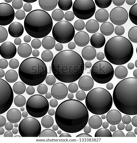 Foam bubbles. Seamless background. - stock vector