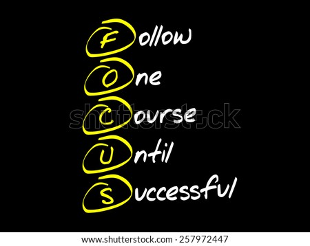 FOCUS, business concept acronym - stock vector