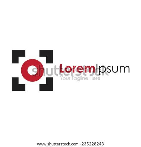 Focus point digital concept elements icon logo - stock vector