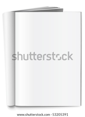 Folded blank magazine - stock vector