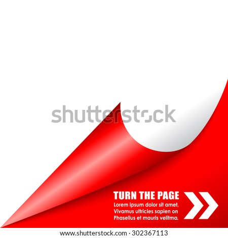Folded page corner - stock vector