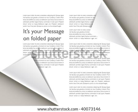 Folded paper magazine - stock vector