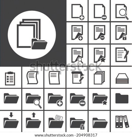 folder and paper icon - stock vector