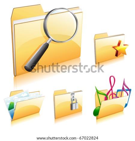 folder icon collection 2 - stock vector